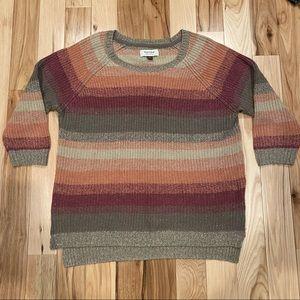 Sonoma Ombré Striped Metallic Sweater